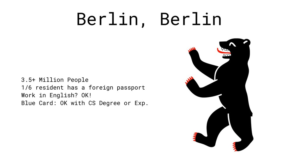 Berlin, Berlin 3.5+ Million People 1/6 resident...