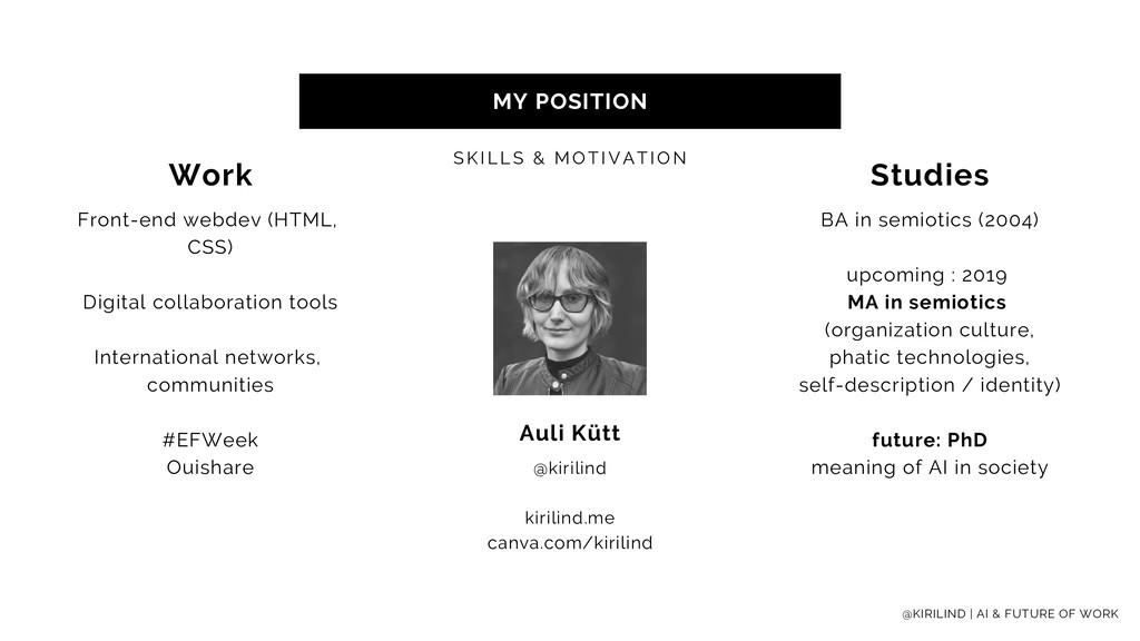 MY POSITION SKI LLS & MOTI VATI ON @KIRILIND | ...