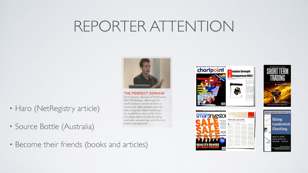 REPORTER ATTENTION ! ! • Haro (NetRegistry arti...