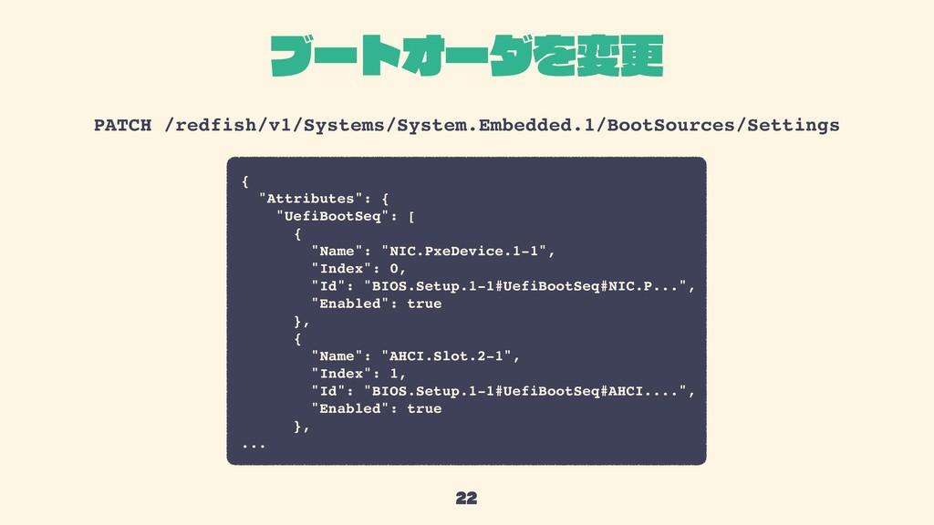 ϒʔτΦʔμΛมߋ PATCH /redfish/v1/Systems/System.Embe...
