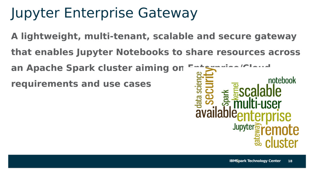 IBMSpark Technology Center Jupyter Enterprise G...