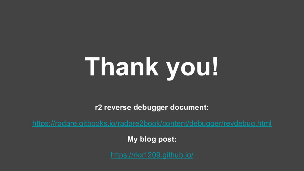 Thank you! r2 reverse debugger document: https:...