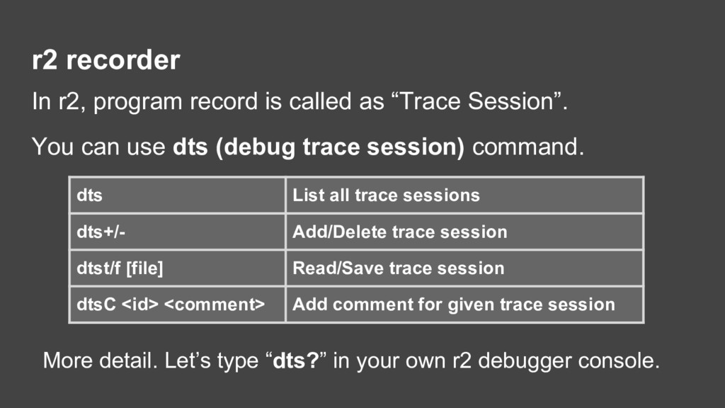 r2 recorder In r2, program record is called as ...