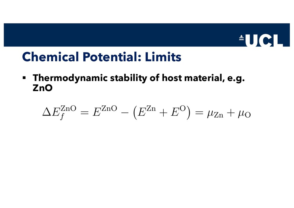 Chemical Potential: Limits § Thermodynamic stab...