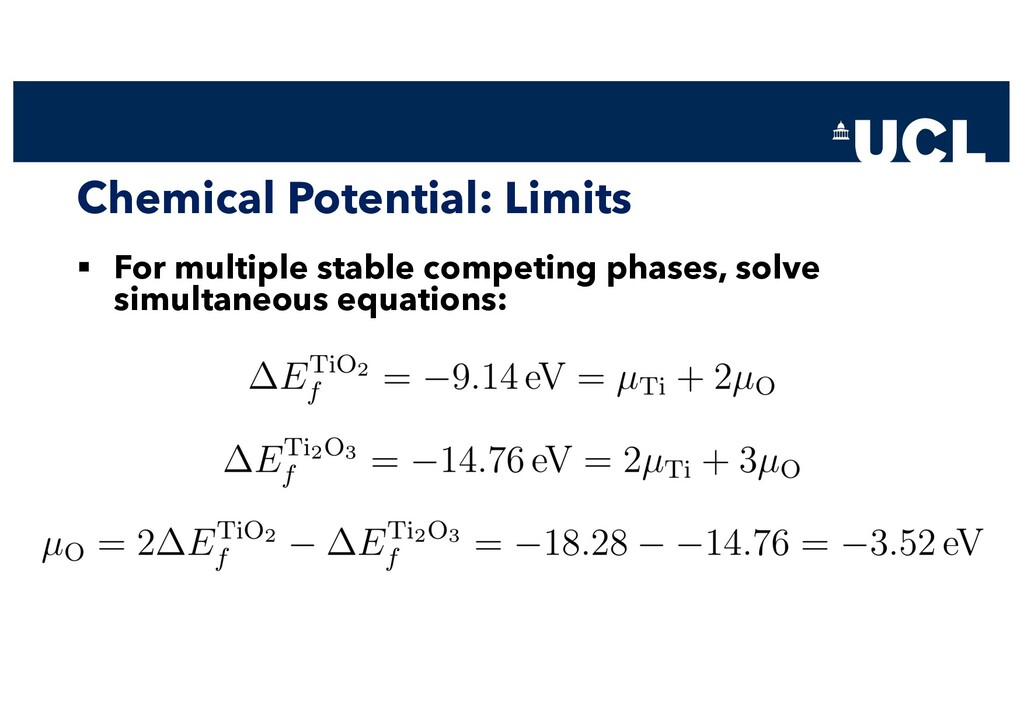 Chemical Potential: Limits § For multiple stabl...