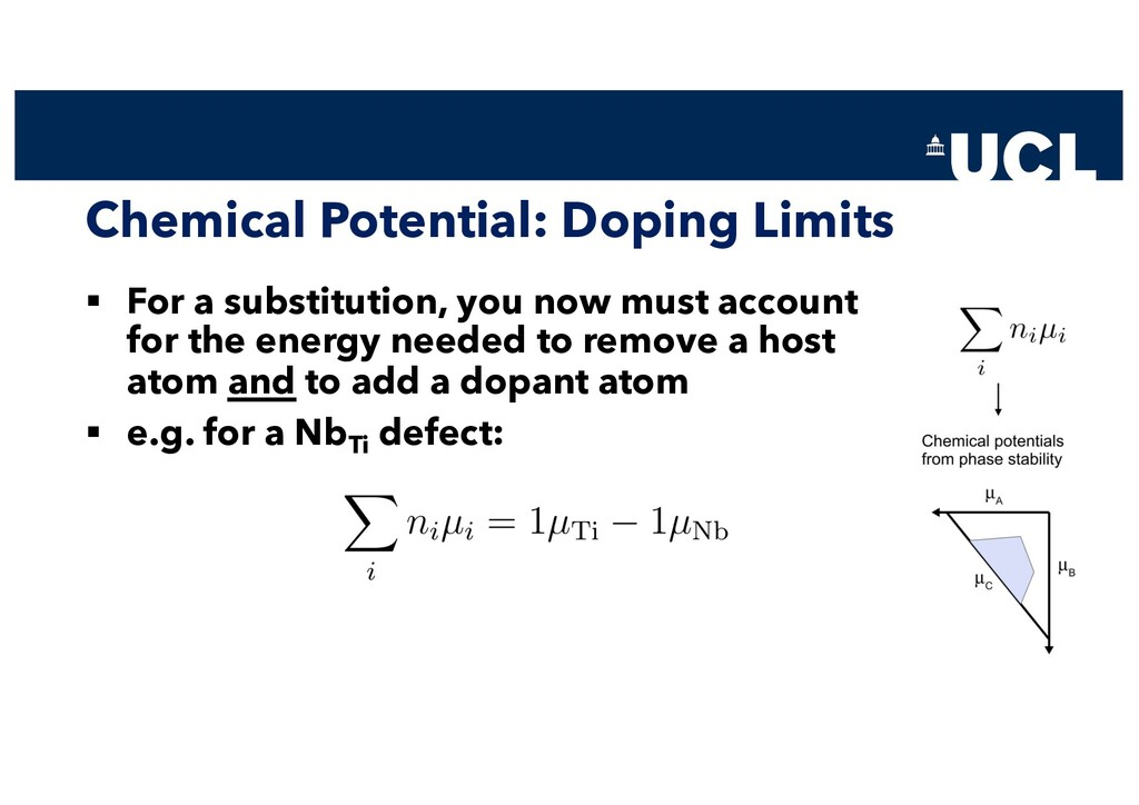 Chemical Potential: Doping Limits § For a subst...
