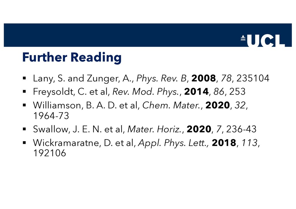 Further Reading § Lany, S. and Zunger, A., Phys...