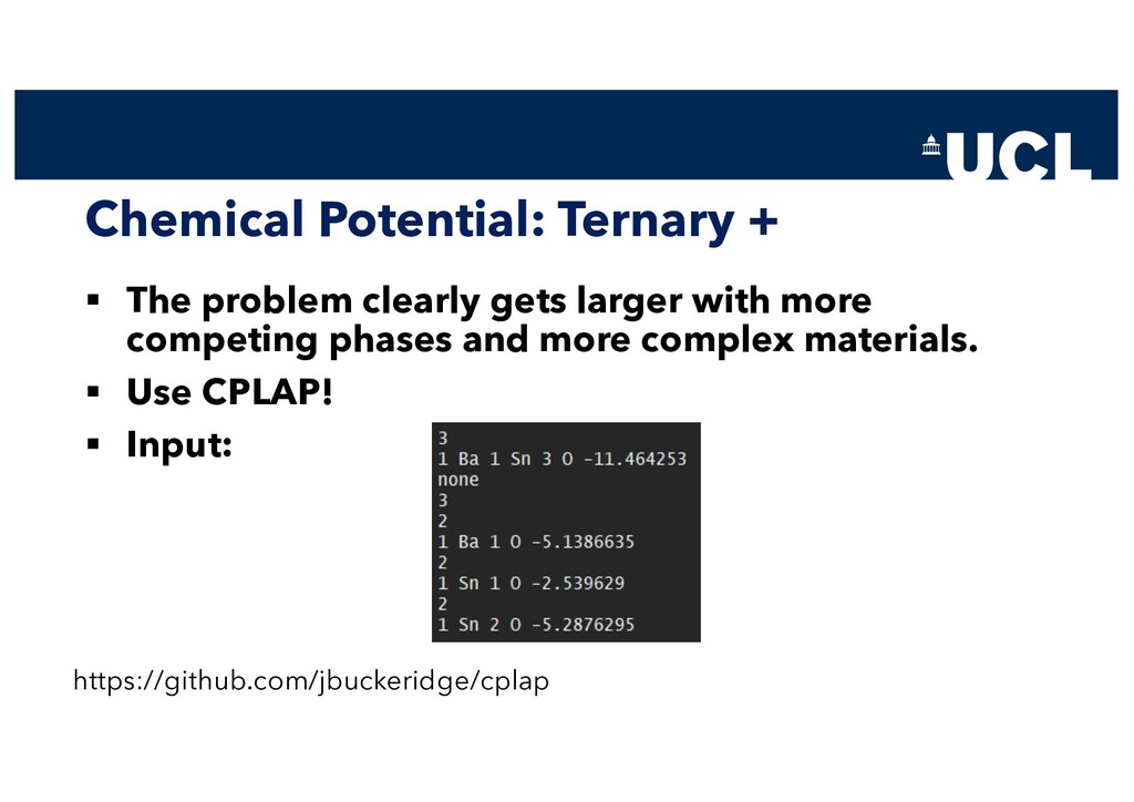 Chemical Potential: Ternary + § The problem cle...