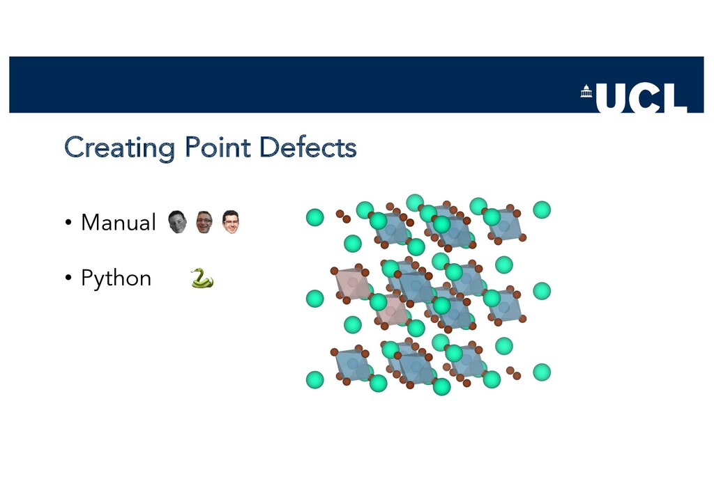 Creating Point Defects • Manual • Python 🐍