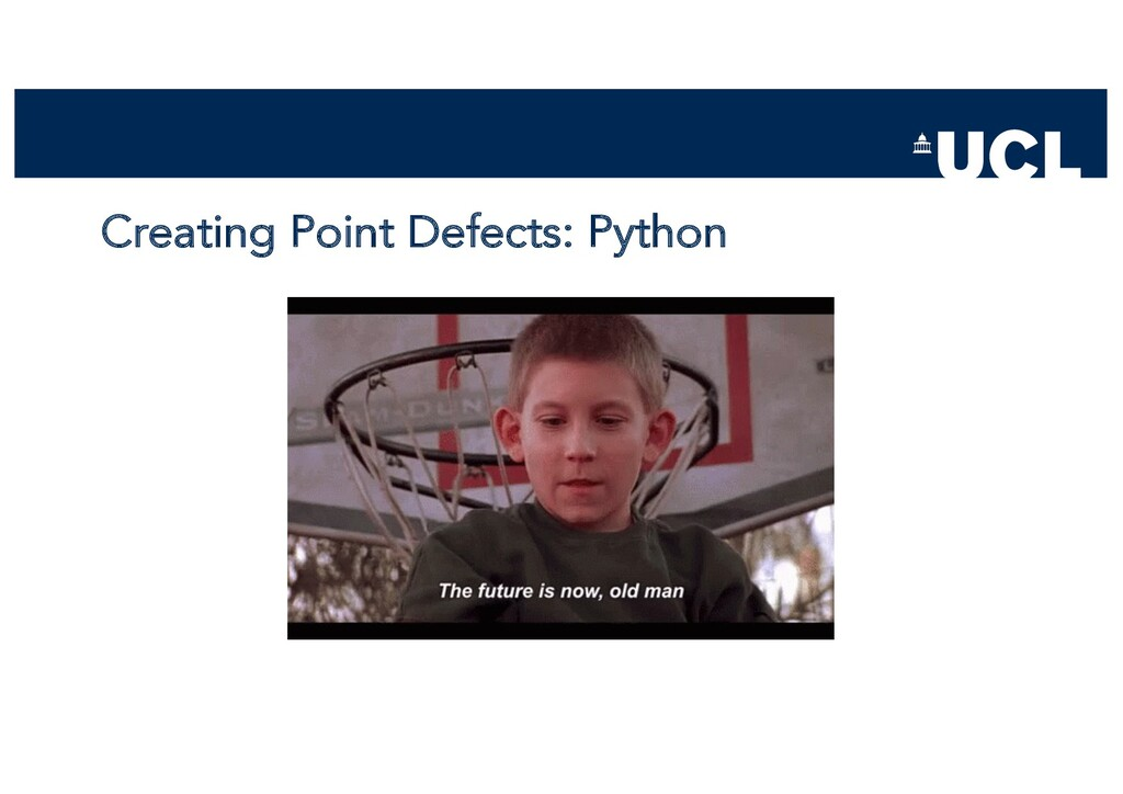Creating Point Defects: Python