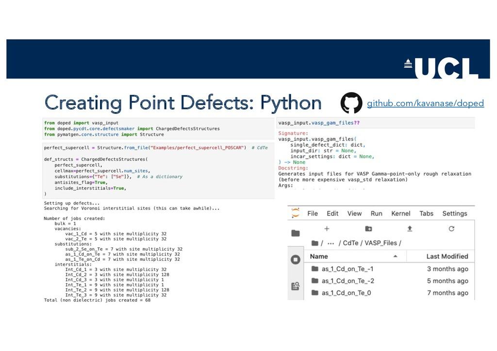 Creating Point Defects: Python github.com/kavan...