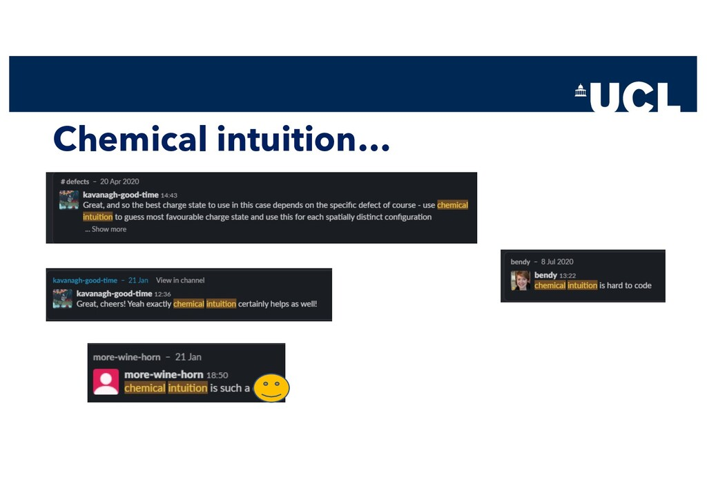 Chemical intuition…