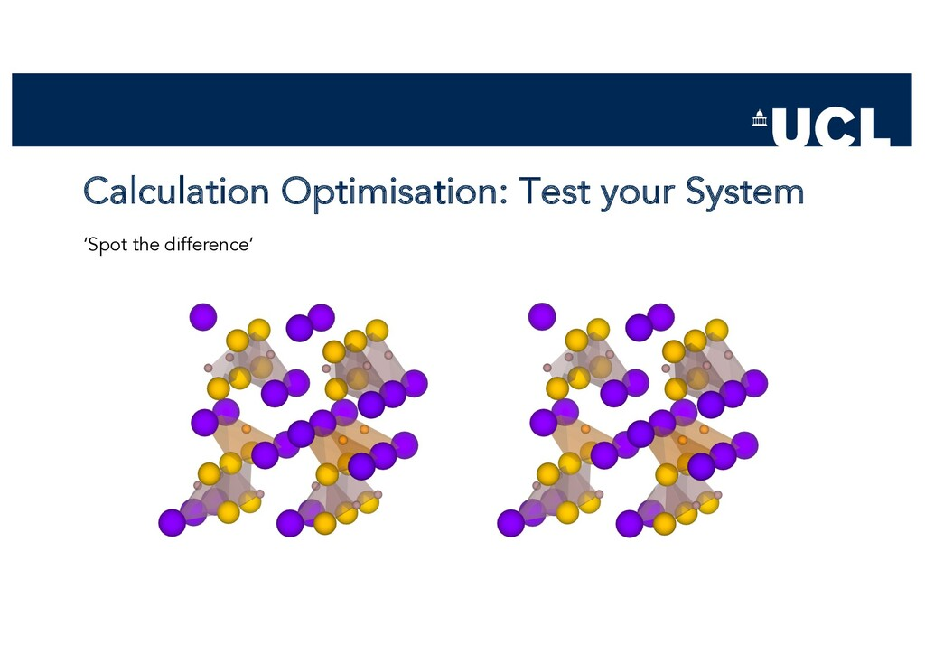 Calculation Optimisation: Test your System 'Spo...