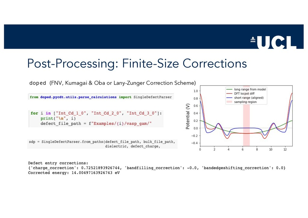 Post-Processing: Finite-Size Corrections doped ...