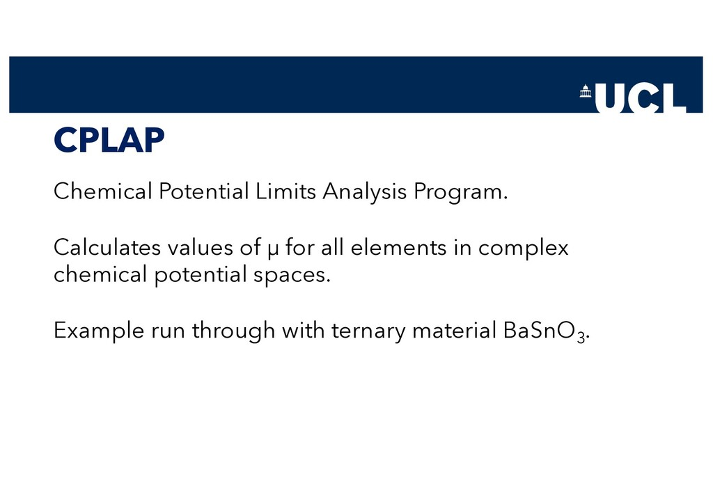 CPLAP Chemical Potential Limits Analysis Progra...