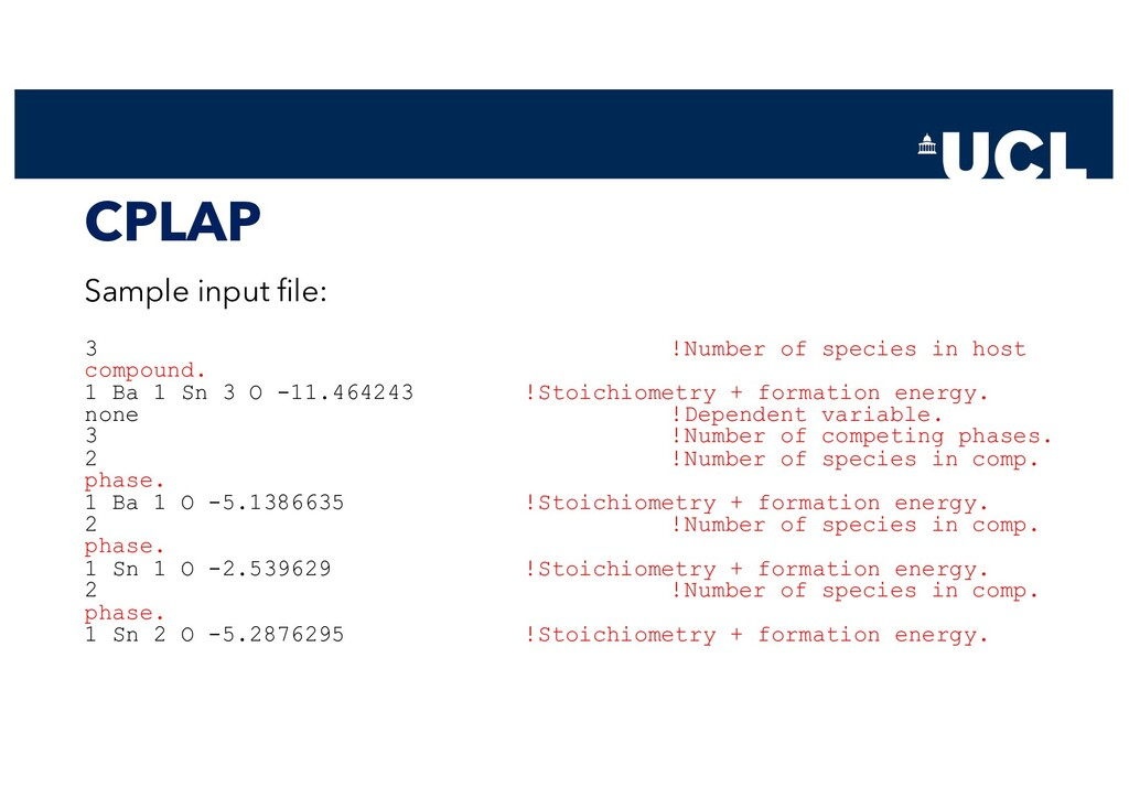 CPLAP Sample input file: 3 !Number of species i...