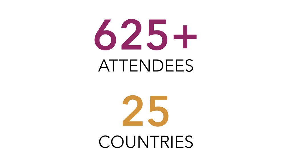 625+ ATTENDEES 25 COUNTRIES
