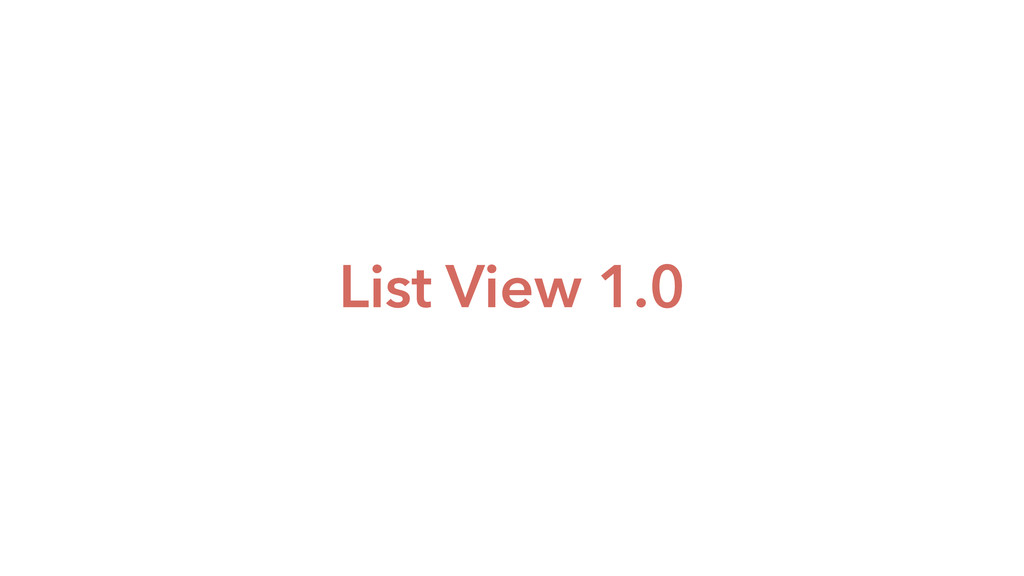 List View 1.0