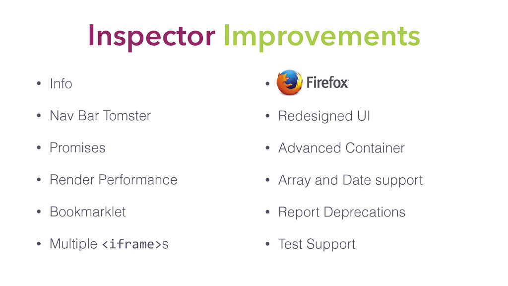 Inspector Improvements • Info • Nav Bar Tomster...