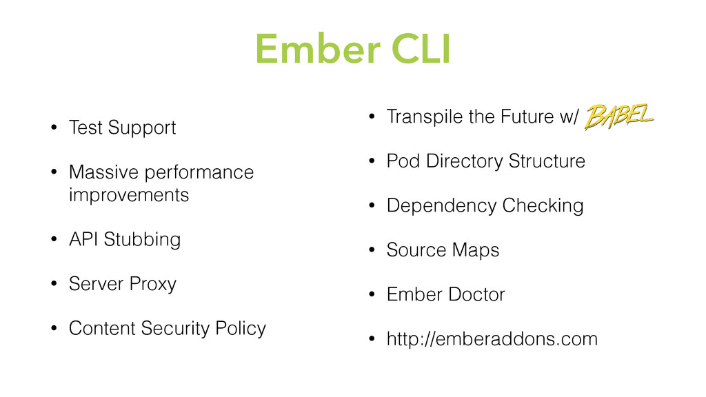 Ember CLI • Test Support • Massive performance ...