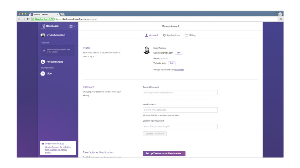 Heroku Dashboard