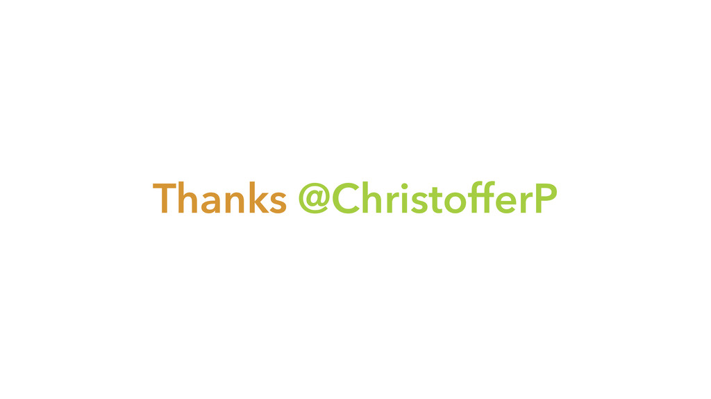 Thanks @ChristofferP