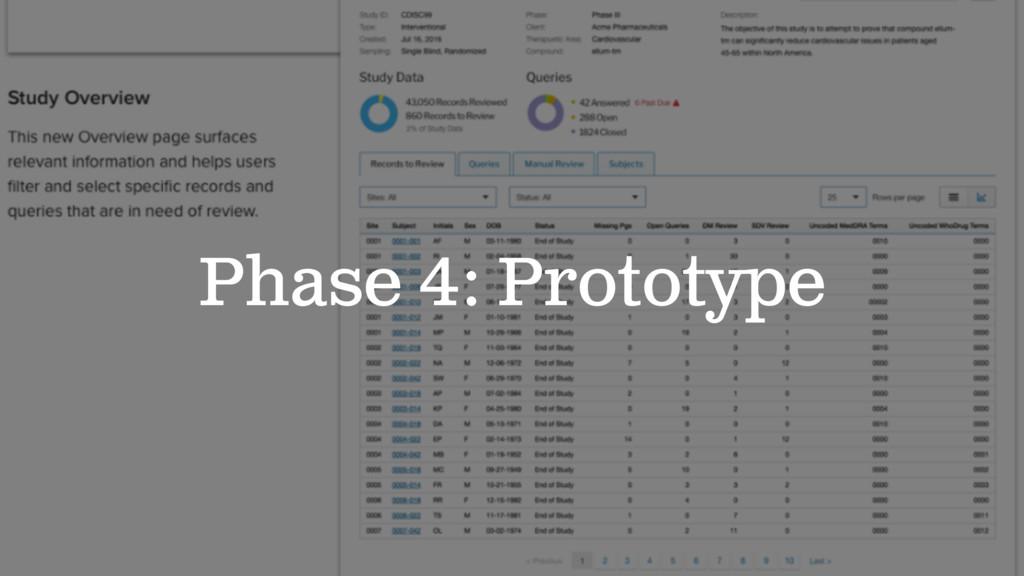 Phase 4: Prototype