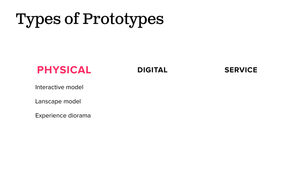 Types of Prototypes PHYSICAL DIGITAL SERVICE In...