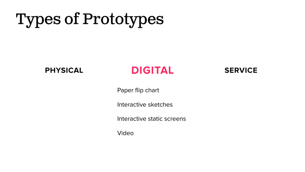 Types of Prototypes PHYSICAL DIGITAL SERVICE Pa...