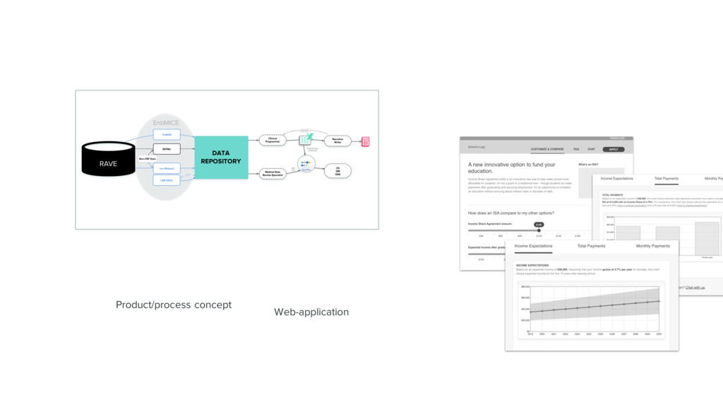 Product/process concept Web-application