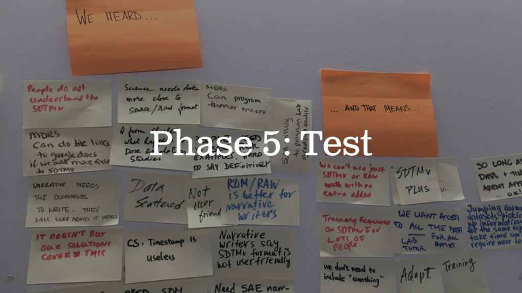 Phase 5: Test
