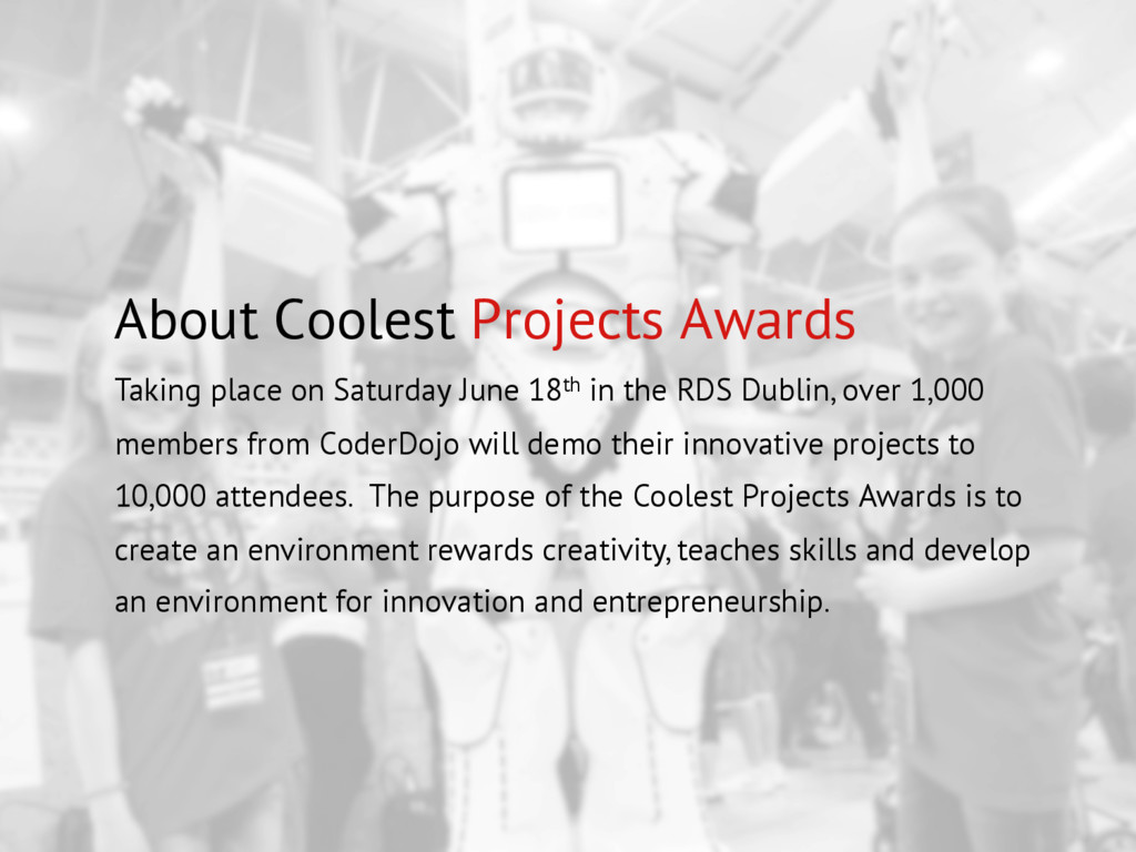 About Coolest Projects Awards Taking place on S...