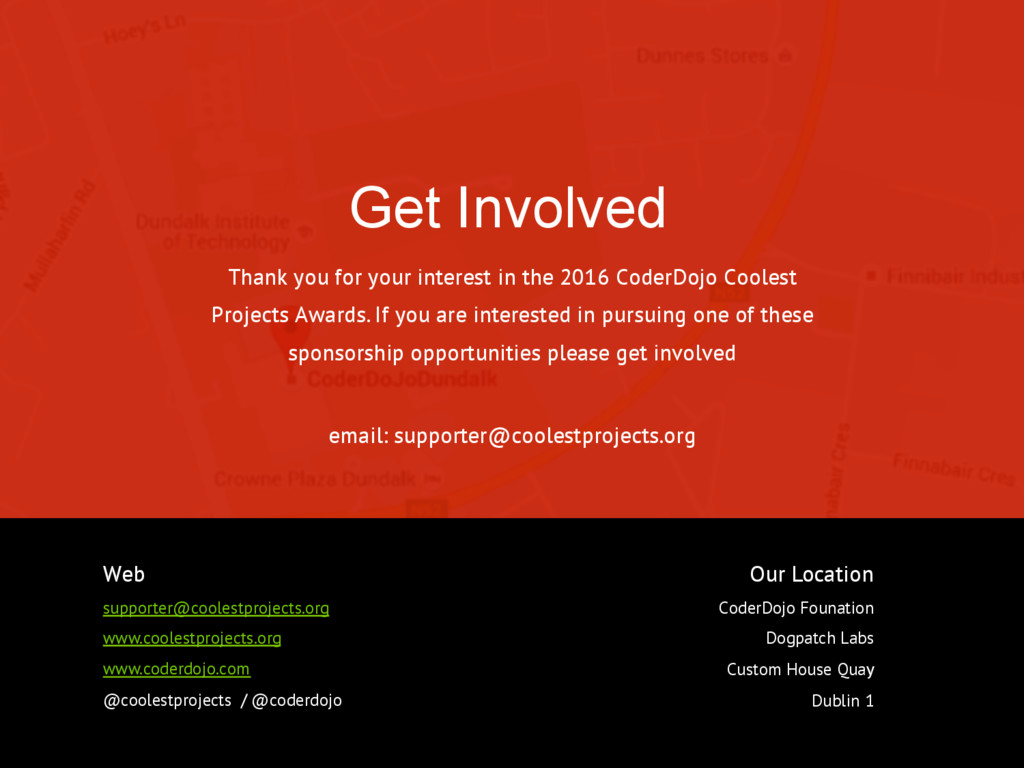 Get Involved 23 Thank you for your interest in ...