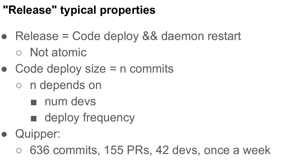 """Release"" typical properties ● Release = Code d..."