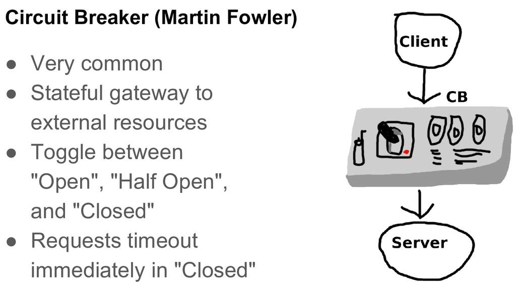 Circuit Breaker (Martin Fowler) ● Very common ●...