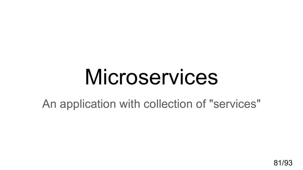 Microservices An application with collection of...
