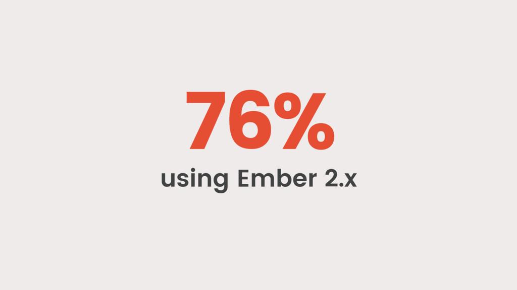 76% using Ember 2.x