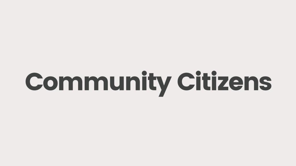 Community Citizens