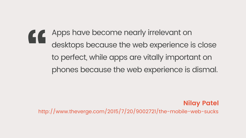 Apps have become nearly irrelevant on desktops ...