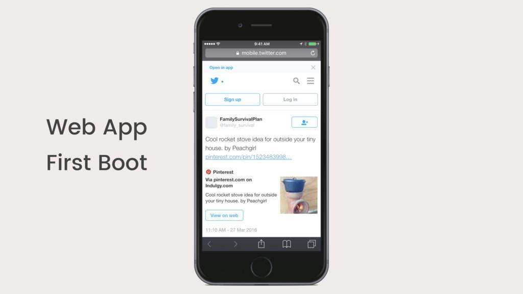 Web App First Boot