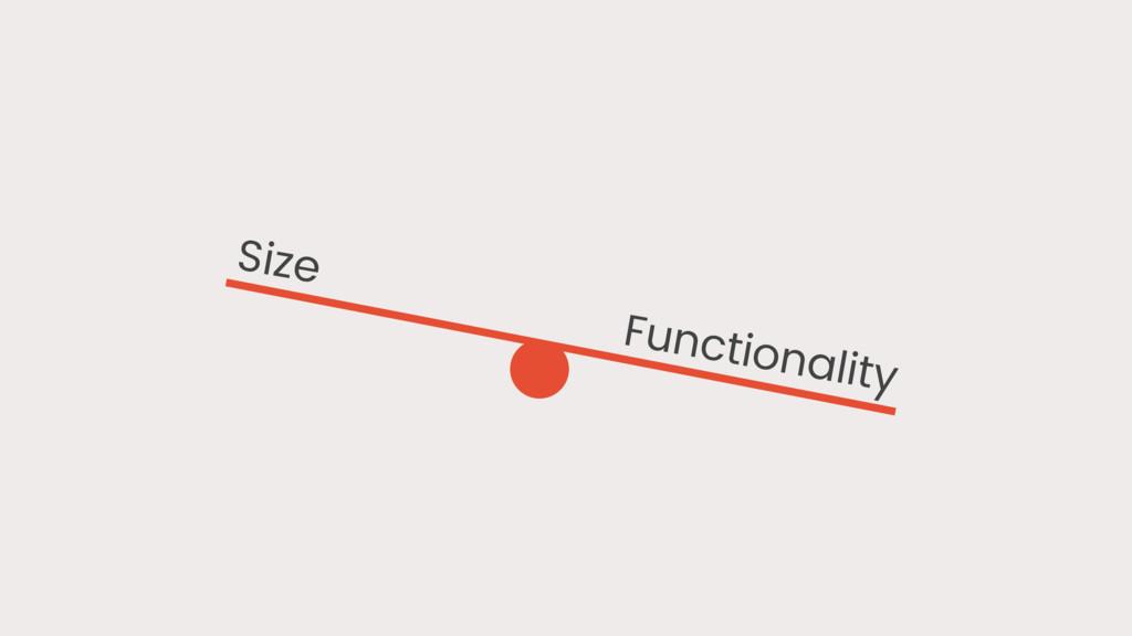Functionality Size