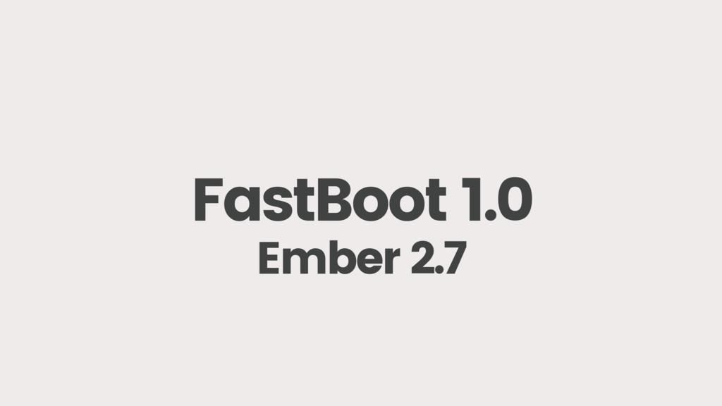FastBoot 1.0 Ember 2.7