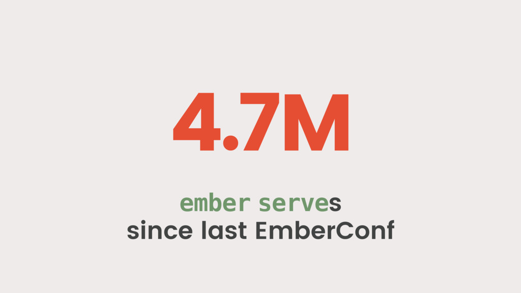 4.7M ember serves since last EmberConf