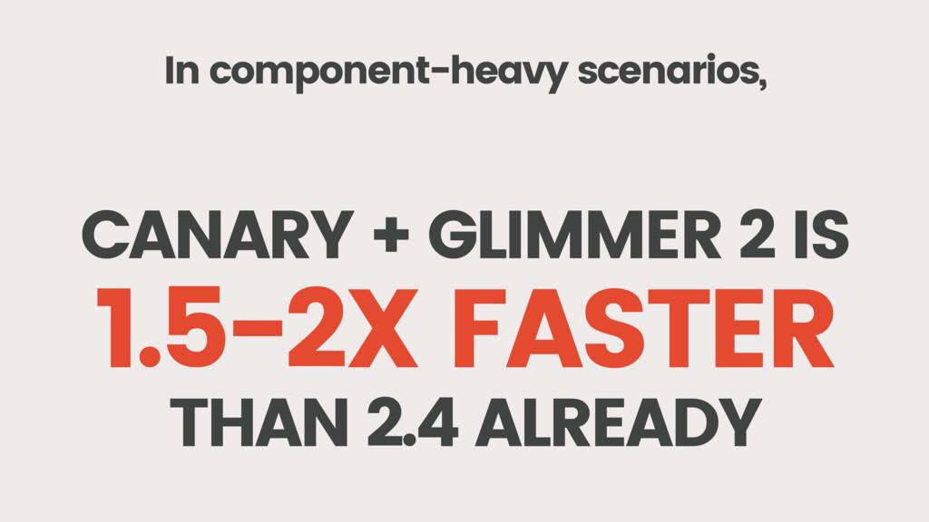 In component-heavy scenarios, CANARY + GLIMMER ...