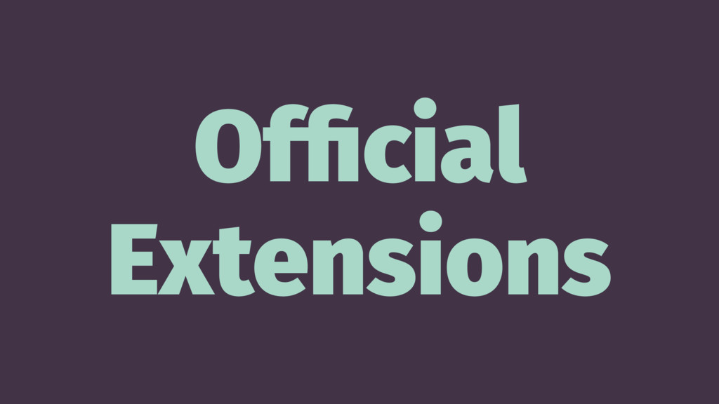Official Extensions