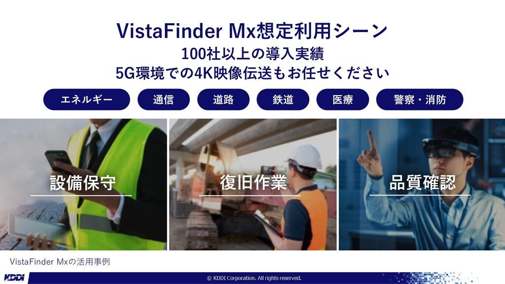 VistaFinder Mxの活用事例 VistaFinder Mx想定利用シーン 100社以...