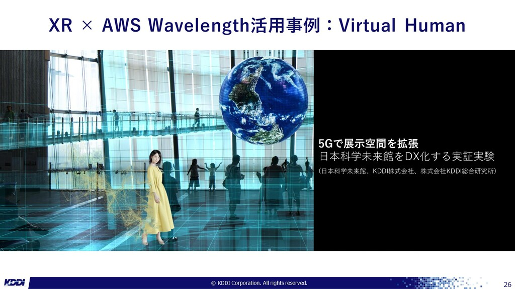 XR × AWS Wavelength活用事例:Virtual Human 26 5Gで展示空...