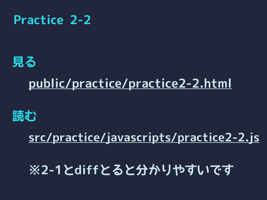 Practice 2-2 見る 読む public/practice/practice2-2....