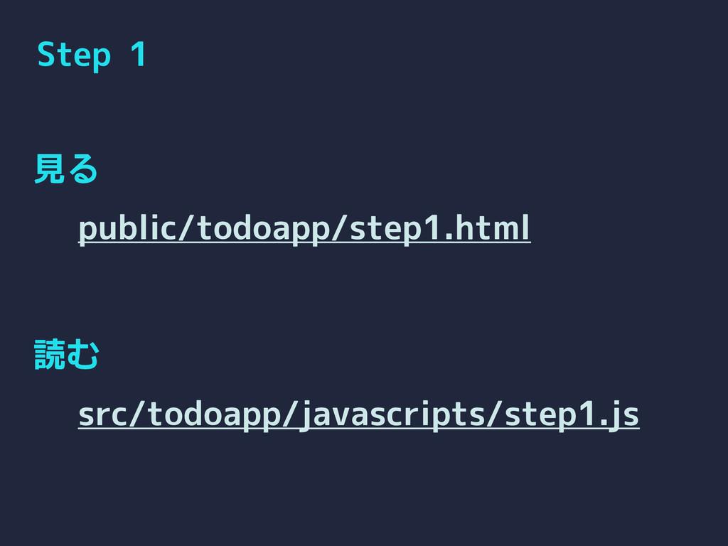 Step 1 見る 読む public/todoapp/step1.html src/todo...