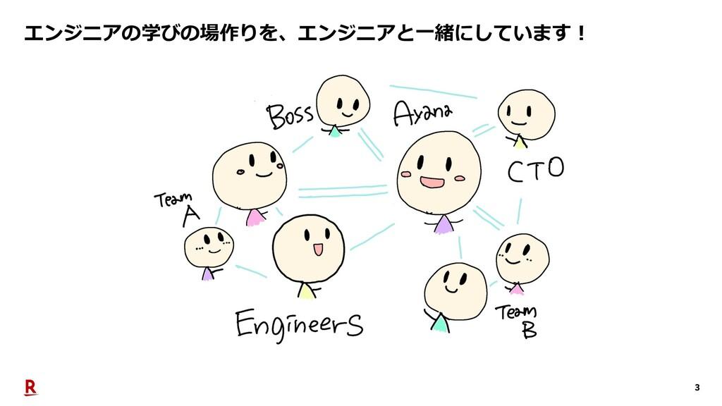 3 エンジニアの学びの場作りを、エンジニアと⼀緒にしています︕